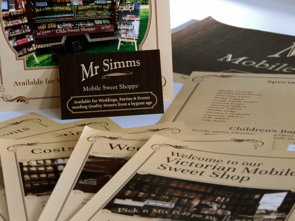 Mr Simms Sweet Shoppe – Business Cards & Banners