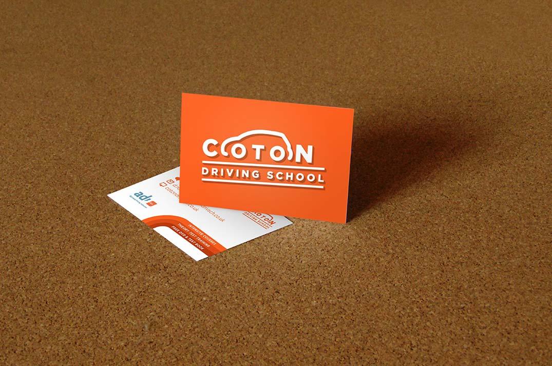 Coton Driving School Business Cards First Giraffe Design