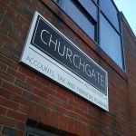 Tray Sign | Churchgate Accountants