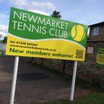 Post Sign | Newmarket Tennis Club