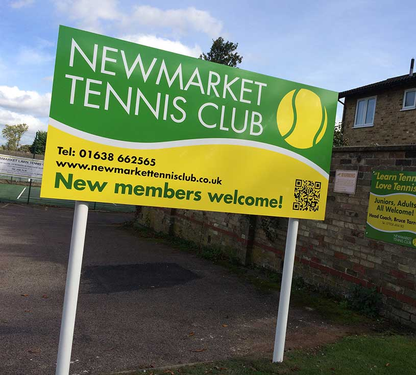 Newmarket Tennis Club – Post Sign