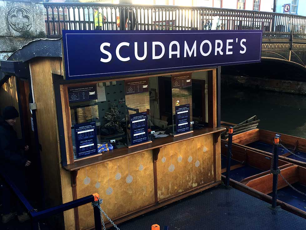 Scudamores Punting Company – Signage